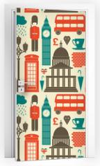 Naklejka na drzwi - London Background