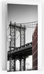 Naklejka na drzwi - Manhattan Bridge from Washington Street, Brooklyn