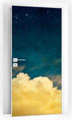Naklejka na drzwi - Moon and Cloudscape