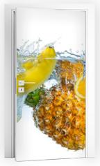 Naklejka na drzwi - multi fruit splash
