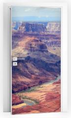 Naklejka na drzwi - Panorama image of Colorado river through Grand Canyon