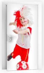 Naklejka na drzwi - piłkarz 4