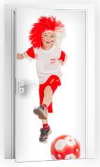 Naklejka na drzwi - piłkarz 5