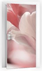 Naklejka na drzwi - pink tinted tulips
