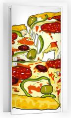 Naklejka na drzwi - pizza