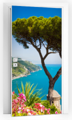 Naklejka na drzwi - Postcard view of Amalfi Coast, Ravello, Campania, Italy