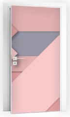 Naklejka na drzwi - Rose Quartz trend Material design