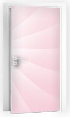 Naklejka na drzwi - Rose Soft Pastel Light Cloud Waves Sky Background Vector Illustration