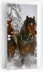 Naklejka na drzwi - sleigh ride