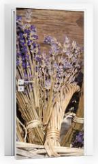 Naklejka na drzwi - Sommerernte - Lavendel getrocknet im Korb