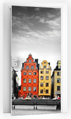 Naklejka na drzwi - Stockholm, heart of old town,
