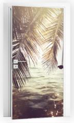 Naklejka na drzwi - Tropical beach