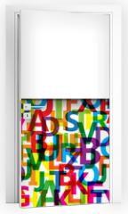 Naklejka na drzwi - Vector Abstract Colour Alphabet
