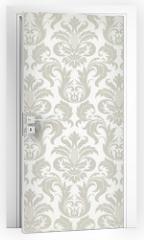 Naklejka na drzwi - Vector seamless floral damask pattern
