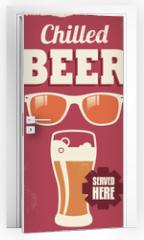Naklejka na drzwi - Vintage retro beer sign - vector poster design