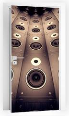 Naklejka na drzwi - Wall of speakers.