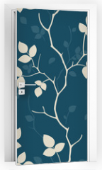 Naklejka na drzwi - Wallpaper with leaves. Seamless pattern