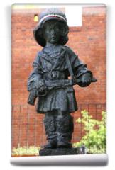 Fototapeta - Monument of  the Little Insurgent in Warsaw,Poland