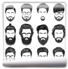 Fototapeta - bearded man hairstyles