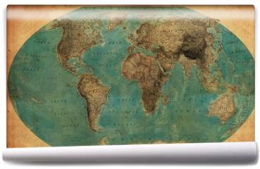 Fototapeta - vintage map