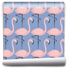 Fototapeta - tender flamingo pattern