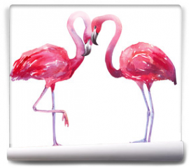 Fototapeta - watercolor illustration of a flamingo