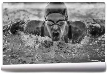 Fototapeta - Butterfly stroke swimming champion