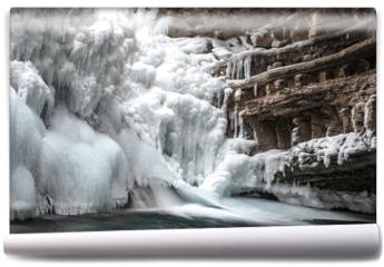 Fototapeta - Canyon Frozen Water Fall