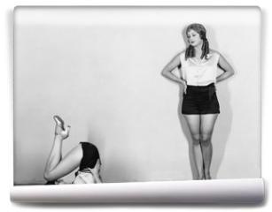 Fototapeta - Women stretching