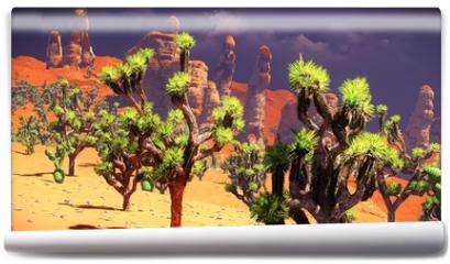 Fototapeta - Joshua trees on desert