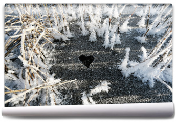Fototapeta - Ice pattern heart valentine