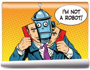Fototapeta - artificial intelligence robot pretending to be human