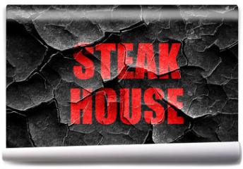 Fototapeta - Grunge cracked Delicious steak sign