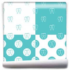 Fototapeta - Tooth patterns set. Vector Illustration