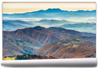 Fototapeta - Beautiful blue mountains and hills