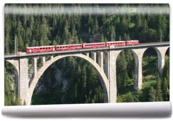 Fototapeta - Rhätische Bahn - Wiesener Viadukt