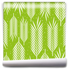 Fototapeta - Seamless pattern with palm leaves ornament