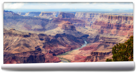 Fototapeta - Panorama image of Colorado river through Grand Canyon
