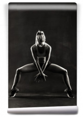 Fototapeta - Fitness female woman with muscular body, workout