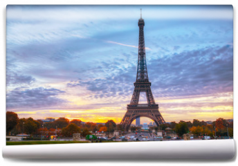 Fototapeta - Cityscape with the Eiffel tower in Paris, France