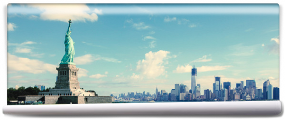 Fototapeta - Panorama on Manhattan, New York City