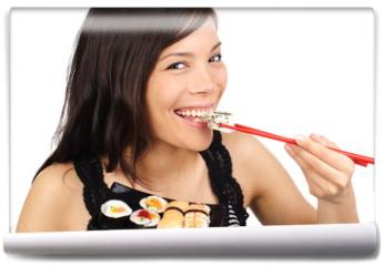Fototapeta - Sushi woman