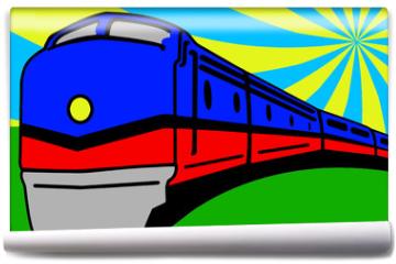 Fototapeta - Train Pop Art