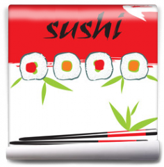 Fototapeta - vector sushi composition