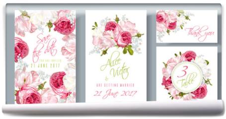 Fototapeta - Rose wedding invitation