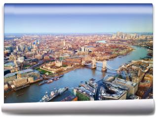 Fototapeta - London city, aerial view, United Kingdom