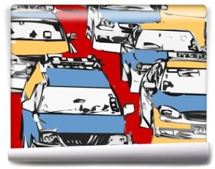 Fototapeta - embouteillage