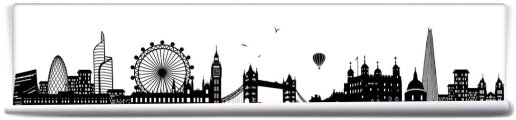 Fototapeta - London Skyline schwarz