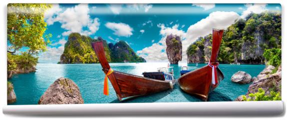 Fototapeta - Paisaje pintoresco de Tailandia. Playa e islas de Phuket. Viajes y aventuras por Asia