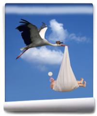 Fototapeta - Stork & Baby
